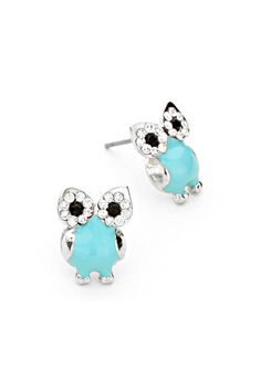 Turquoise Crystal Owl Earrings | Awesome Selection of Chic Fashion Jewelry | Emma Stine Limited