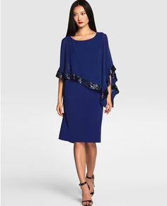 Vestido de fiesta azul con pedrería