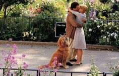 """YOU'VE GOT MAIL. After months of chatting online, Joe (Tom Hanks) and Kathleen (Meg Ryan) bring their romance to the real world after he says, """"Don't cry, shopgirl, don't cry."""""""
