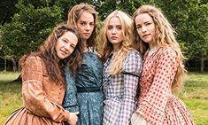 Kathryn Newton, Maya Thurman-Hawke, Willa Fitzgerald, and Annes Elwy in Little Women (2017)