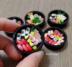Dollhouse Miniature Food, Japanese food, Sushi, Sashimi, Obento, Party, Doll, Fake food, 1/6 scale, 1:12 scale, Sylvanian Families