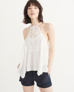 $19.20 on sale Lace square neck cami by Abercombie and Finch