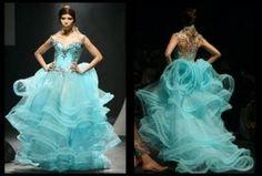 Aquatiffany blue wedding gown
