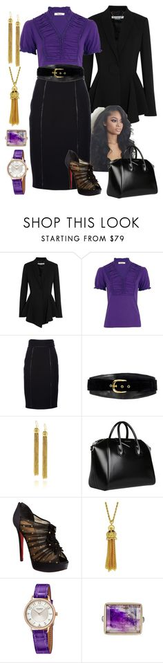 """Purple/Black"" by manda3482 ❤ liked on Polyvore featuring Givenchy, Precis Petite, Burberry, Alice by Temperley, Roberto Cavalli, Christian Louboutin, Kenneth Jay Lane, Hermès and Jamie Joseph"