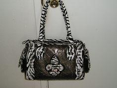 beauitful large zebra style hand bag