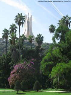 Makam chahid (Martyrs monument) Algiers. View from Hama (the Garden)