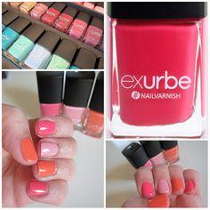 die Farben von exurbe cosmetics auf heypretty.ch