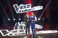Con Alejandro Palacio en el diamante de La Voz Colombia.