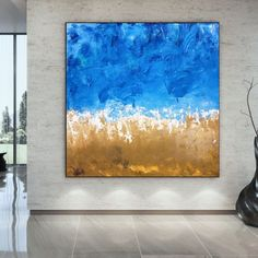 Original Abstract Painting Modern Canvas Wall Art Large Wall image 2 Large Abstract Wall Art, Large Canvas Art, Canvas Wall Art, Colorful Artwork, Extra Large Wall Art, Office Wall Art, Texture Art, Art Images, Bespoke