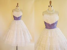 Hey, I found this really awesome Etsy listing at https://www.etsy.com/listing/249770399/1950s-dress-vintage-50s-dress-white-lace