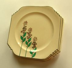 Burleigh/burgess & Leigh The Best Art Deco Burleigh Ware Zenith Design Bowl C.1930s Brocade Design Fine Craftsmanship China & Dinnerware