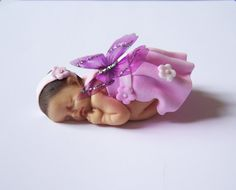 Baby girl Butterfly miniature fimo by Floratist on Etsy