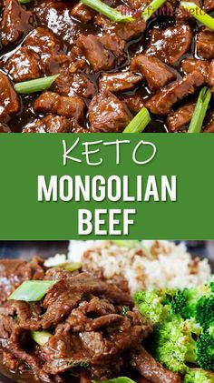 No carb diets 798826052633843277 - Keto Mongolian Beef (Low-Carb) Source by ketofied Healthy Low Carb Recipes, Low Carb Dinner Recipes, Keto Dinner, Low Carb Keto, Protein Recipes, Healthy Foods, Mongolisches Rind, Asian Recipes, Beef Recipes