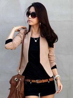 Coffee Korean Fashion Women Hot Sale Shrug Slim Suit Jacket S/M/L A2601co