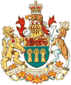 Coat of arms of Saskatchewan, Canada.