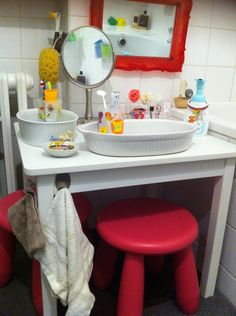 Toddler Self Care Station Montessori Room, Montessori Toddler, Montessori Practical Life, Kids Learning Activities, Its A Wonderful Life, Kid Spaces, Kids House, Kids And Parenting, Kids Room