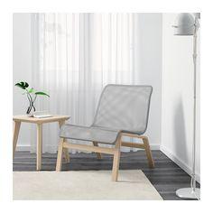NOLMYRA Lepotuoli - koivuviilu/harmaa - IKEA