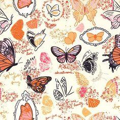 Butterfly Sketchbook in Orange