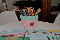Flower Pots, Flowers, Crochet, Tableware, Flower Vases, Plant Pots, Dinnerware, Tablewares, Ganchillo