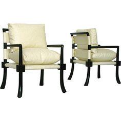 T.H. Robsjohn-Gibbings (1905-1976) Pair of Custom Armchairs