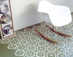 painted stenciled concrete floors with an eames rocking chair Stenciled Concrete Floor, Painted Concrete Floors, Painting Concrete, Concrete Countertops, Painted Walls, Eames Rocking Chair, Tutorial Diy, Paint Drop, Teen Bedroom Designs