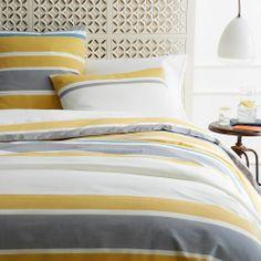 Sol Stripe Duvet Cover + Shams | west elm