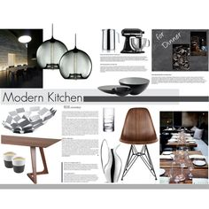 """Modern Kitchen"" by marlene-mmc on Polyvore Interior Design Boards, Furniture Design, Moodboard Interior, Interior Design Presentation, Interior Styling, Interior Decorating, Kitchen Design, Kitchen Reno, Interior Architecture"