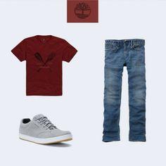 O seu estilo é mais básico? Então você vai amar esse look Timberland, com calça jeans, camiseta e o tênis EK Urban. #estilo #style #moda.