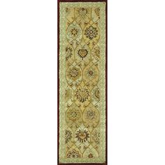 This stunning Mason hand-tufted rug features a densely woven pallet of beautiful and durable wool. An elegant traditional design highlights this rug with a primary shade of green surrounded by a beautiful border.