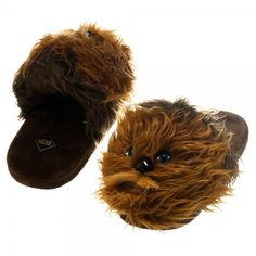 Have everyone's favorite Star Wars wookie keep your feet nice and toasty! No need to be fluent in Shyriiwook to rock these amazingly furry slippers! Small 5/6 Medium 7/8 Large 9/10 XL 11/12 60% Cotton