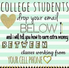 Monat is looking for social college students that are looking to make some extra money! All you have to do is wash your hair and share! No parties, no inventory, no paperwork, no minimums, NO STRESS!!