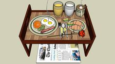 Large preview of 3D Model of Breakfast Tray