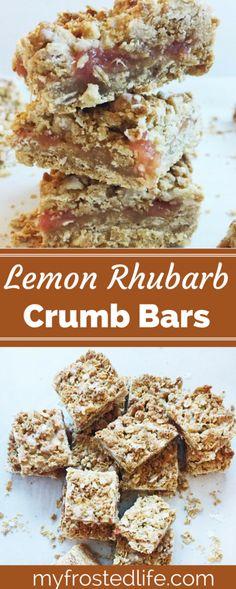 Rhubarb Lemon Crumb Bars
