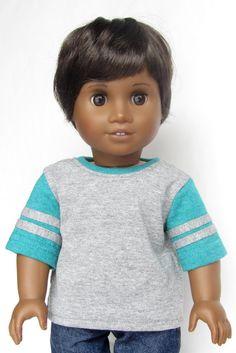 American Girl Boy Doll Clothes  Baseball Jersey Tee by Minipparel