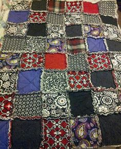Hey, I found this really awesome Etsy listing at https://www.etsy.com/listing/256742241/large-throw-rag-quilt-heavy