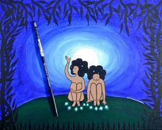 Star Whisperer   16x20 Original Painting.