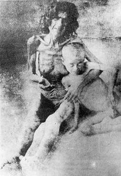 Starving Armenian woman and child   after reaching 'refuge' 1917, 1.5 Million Infidels' dead. Hitler said, after all, who speaks of the Armenians? While preparing the final solution of the Jews. the Grand Mufti of Jerusalem Hajj Amin al-Husseini agreed