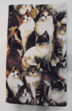 Fabric Covered Pocket Calendar Address Book Calendar for 2017/2018 CAT KITTY