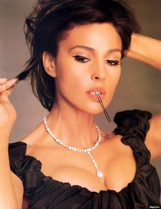 Monica Bellucci, my ultimate beauty icon.  Major girl crush.