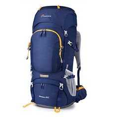 Mountaintop 60L Waterresistant Internal Frame Backpack Hiking Backpacking Packs for Outdoor Hiking Travel Climbing Camping Mountaineering with Rain Cover YKK zipper buckleM6012MEW ** For more information, visit image link.Note:It is affiliate link to Amazon. #HikingPassion