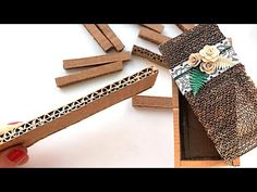 In this video I will show how to make a cardboard box with my own hands. I will use cardboard, paper glue and other improvised materials. Paper Glue, Paper Art, Pet Bottle, Cardboard Crafts, Creative Inspiration, Youtube, Diy Art, Embellishments, Stencils