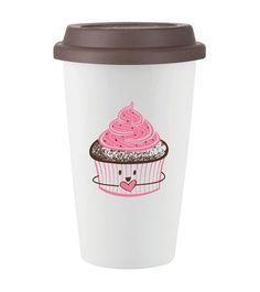 Cupcake Coffe Cup Cute Coffee Mugs Cups Tea Reusable