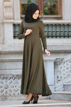 Muslim Dress, Hijab Dress, Muslim Fashion, Hijab Fashion, Daily Dress, The Dress, Green Dress, Nevada, Different Styles