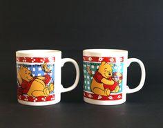 Winnie the Pooh Piglet Eeyore Staffordshire Mugs by FunkyKoala