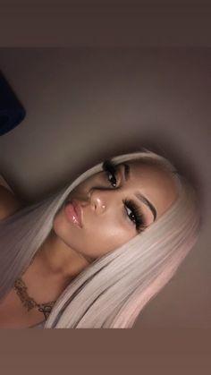 Baddie Hairstyles, Black Girls Hairstyles, Cute Hairstyles, Shirin David Style, Curly Hair Styles, Natural Hair Styles, Light Skin Girls, Hair Laid, Bad Girl Aesthetic