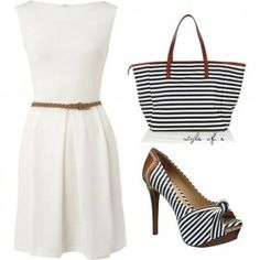 I would change the bag and add a cute blazer for work