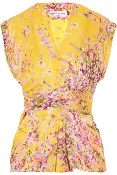 cherry blossoms yellow blouse - cute