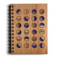 Circles Lasercut Wood Journal by Cardtorial on Etsy https://www.etsy.com/listing/218074572/circles-lasercut-wood-journal
