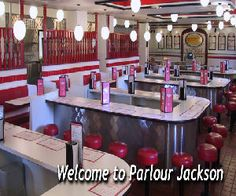 The Parlor in Jackson MI.  Wonderful gigantic ice cream creations!