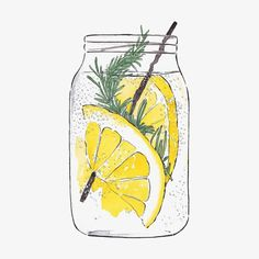 Good objects - Cooling down (refreshing drinks detox) Food Drawing, Drawing Ideas, Food Illustrations, Food Art, Art Inspo, Watercolor Paintings, Lemon Watercolor, Watercolor Food, Watercolor Sketch